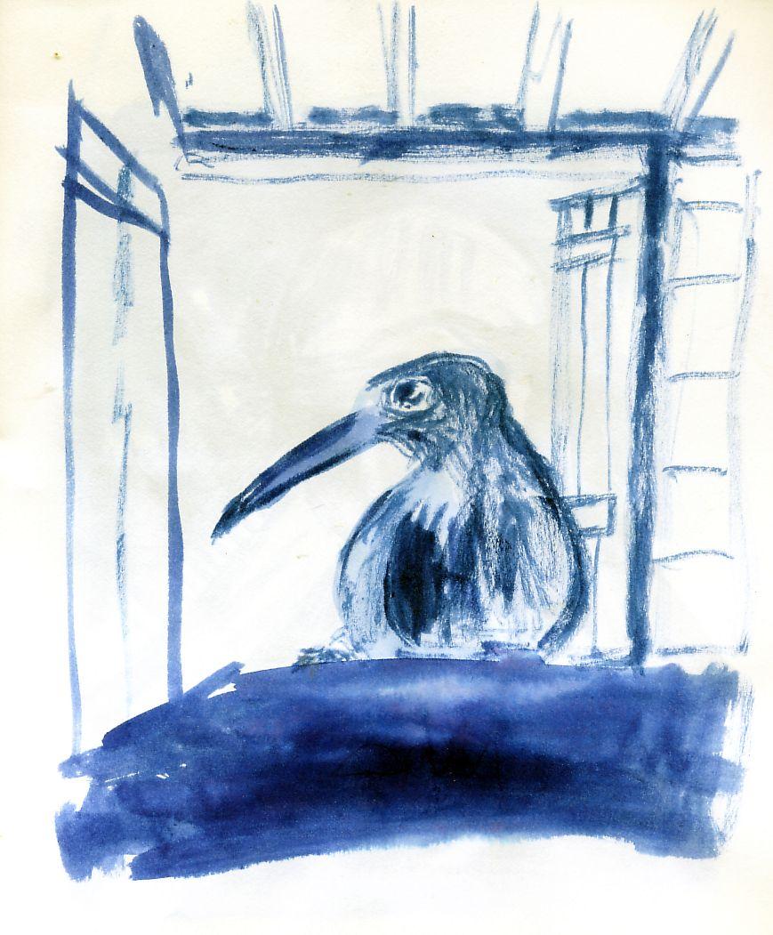 Oiseau long bec fen tre art et tique et pique mots et for Oiseau a long bec