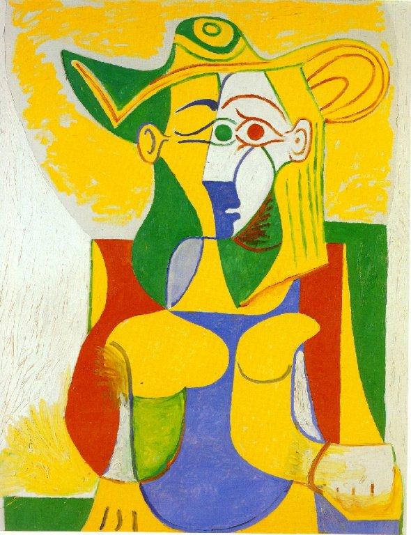 Picasso Femme assise dans un fauteuil. 6-January1962. 162 x