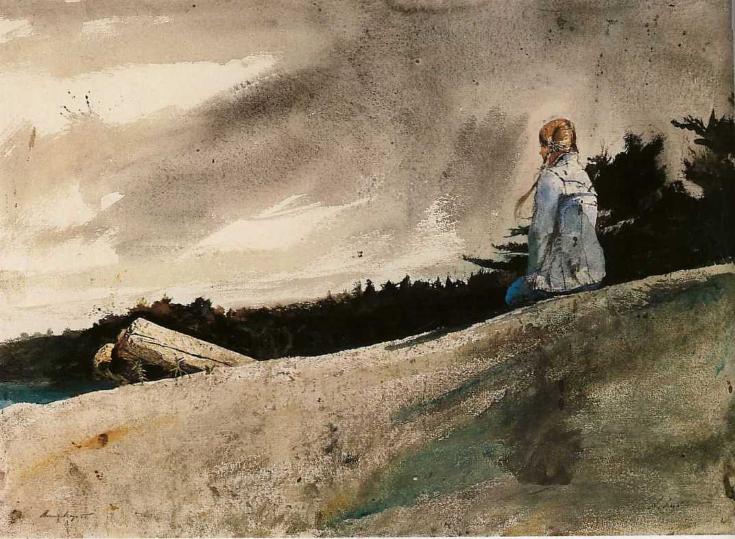 peinture: Andrew Wyeth  -   from   Helga's  suite