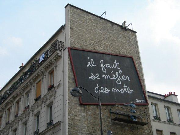 Ben Vautier.       Peinture murale  Paris