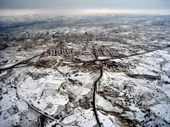 photo  vue  de Turquie  - Capadocce, sous la neige , photo Picasa