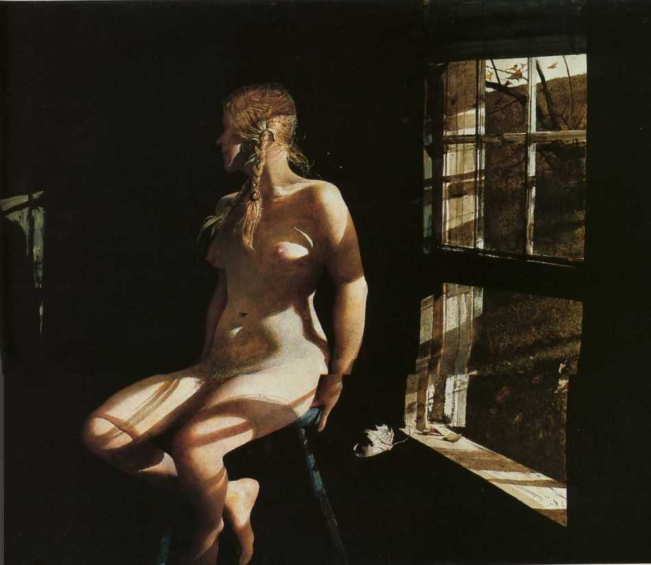 "peinture; aquarelle de Andrew Wyeth de la suite ""Helga"""
