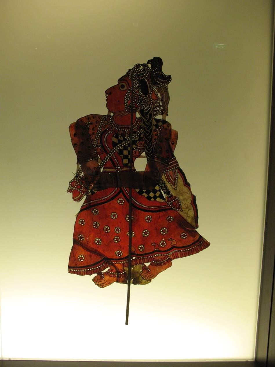 silhouette marionette indonésienne, musée du quai Branly ( arts premiers)