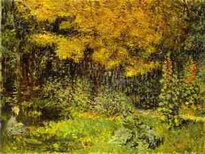 peinture: Claude Monet:  le jardin
