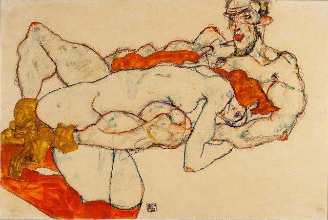 Peinture  1280px-egon_schiele_-_liebespaar_-_1913