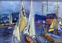 Raoul Dufy  – voiliers àquai