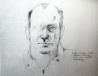 Larry Rivers   portrait of Sam Hunter   1965 35,6×45,7cm