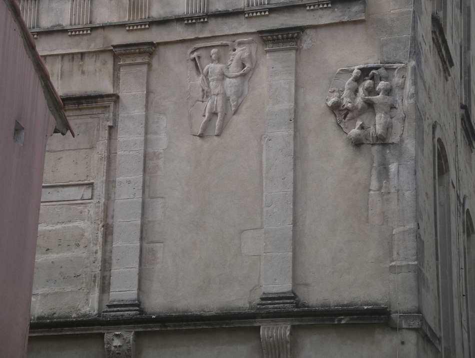 Arles  bas rel   remploi romain   face   ecole nat photo