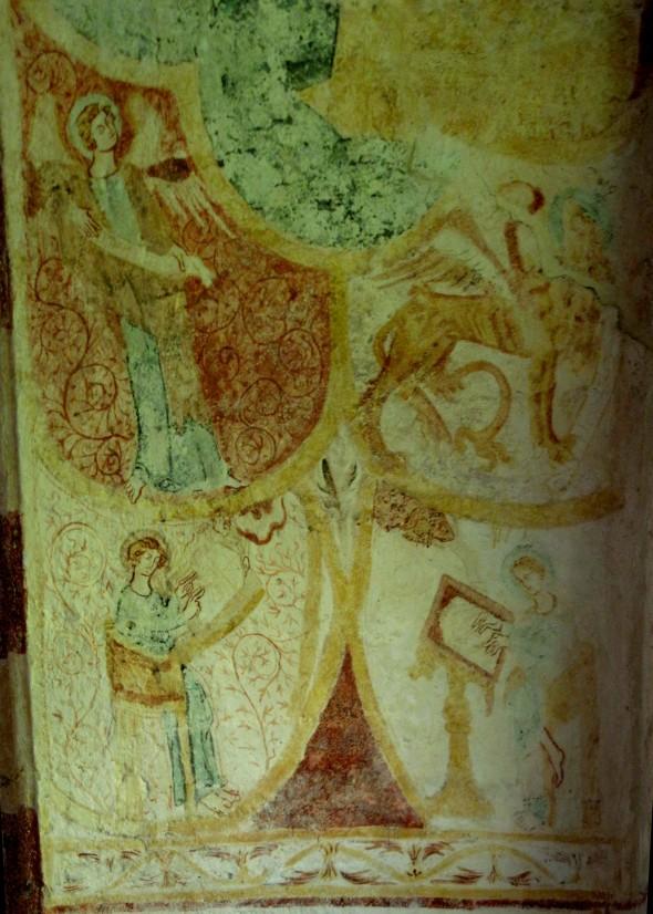 fresque médiévale -- Mesnard-la-Barotière, St Christophe
