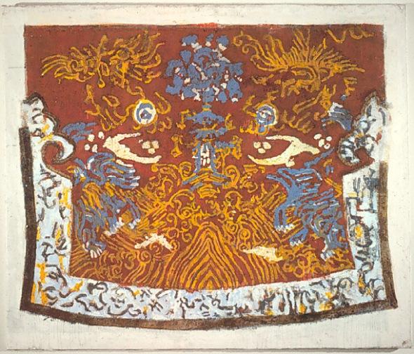 peinture: J Pierre Pincemin:  l'année  du dragon