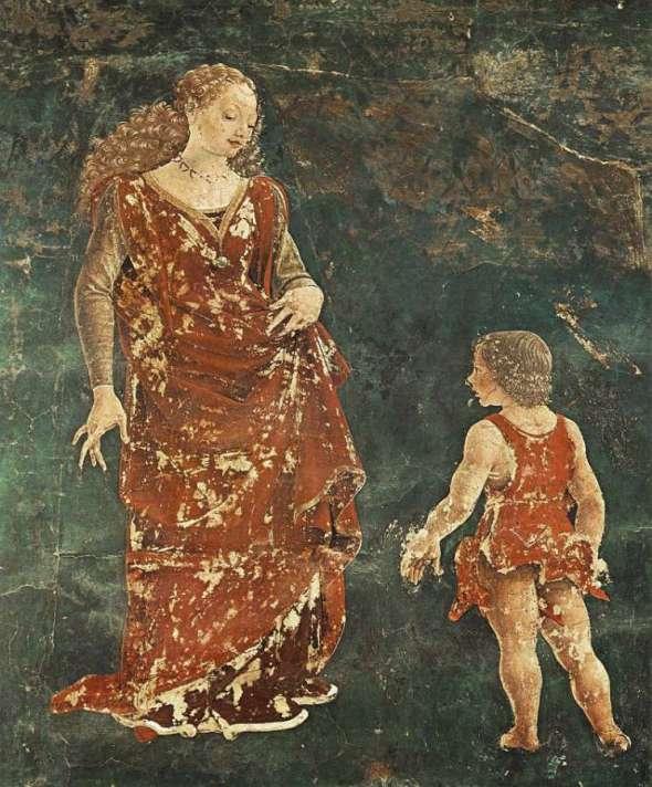 peinture; Francesco del Cossa - Triomphe de  Vénus  - détail