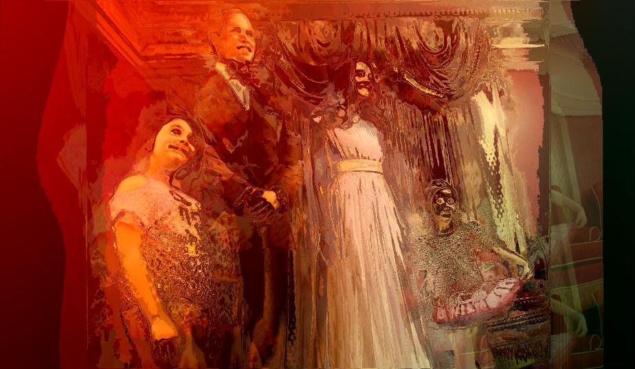 Kate & William  au musée Mme  Tussaud, transformé  par mes soins...