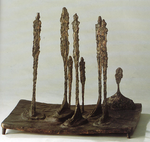 sculpture:  Alberto Giacometti:  la  forêt  -  1950  Fondation Maeght