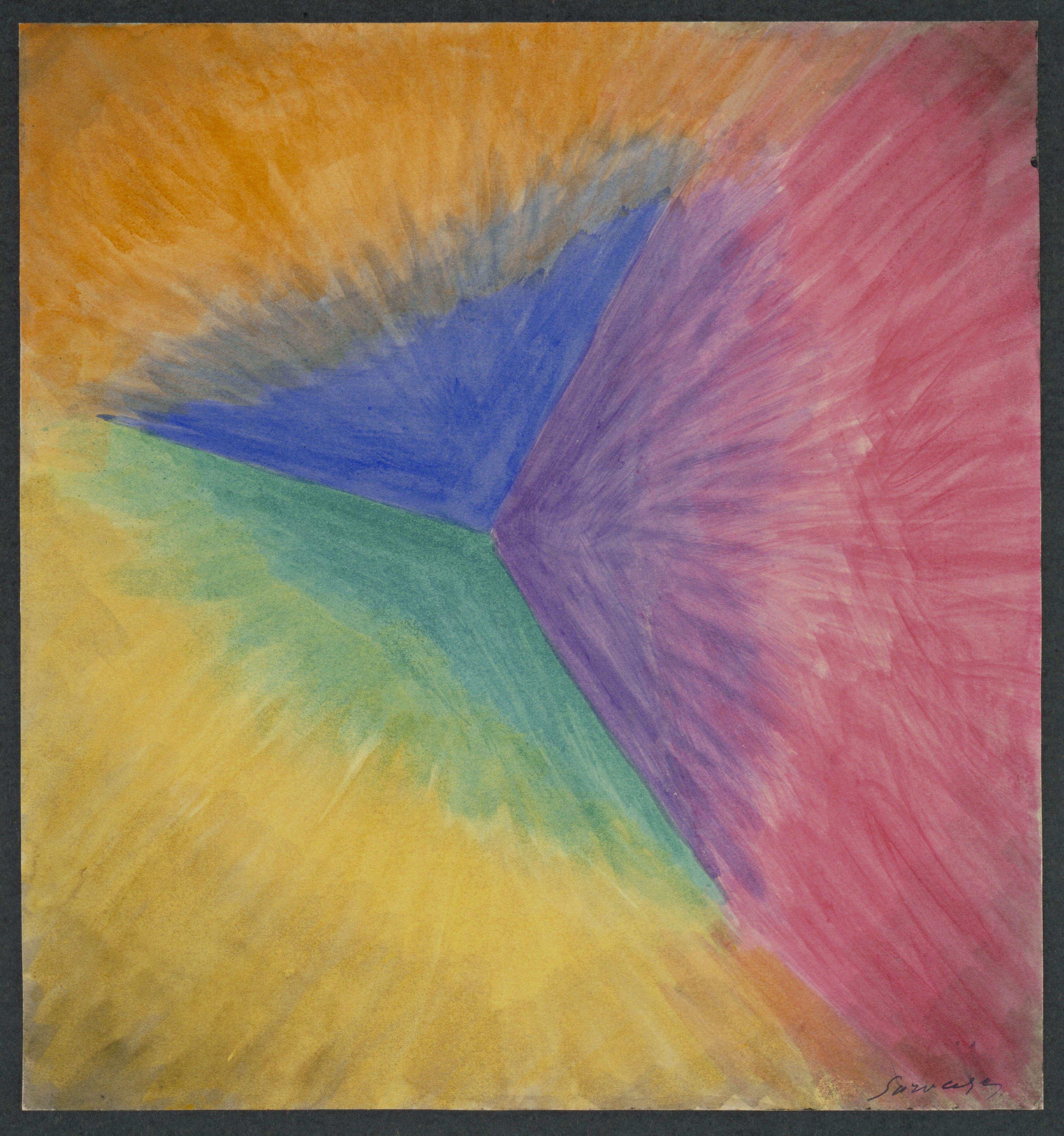 art: Leopold Survage, rythmes colorés, étude pour un film