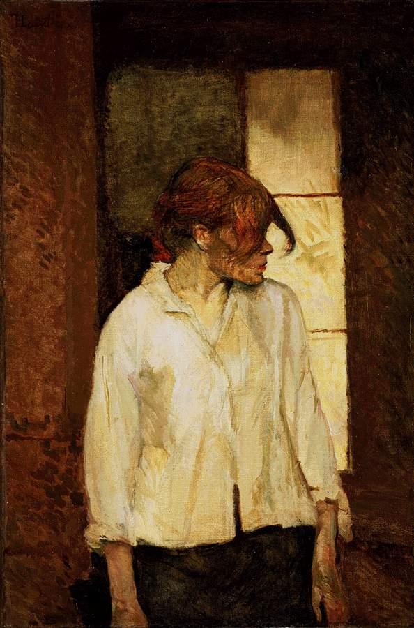 Peinture - H de Toulouse Lautrec -  Rosa la rouge 1886