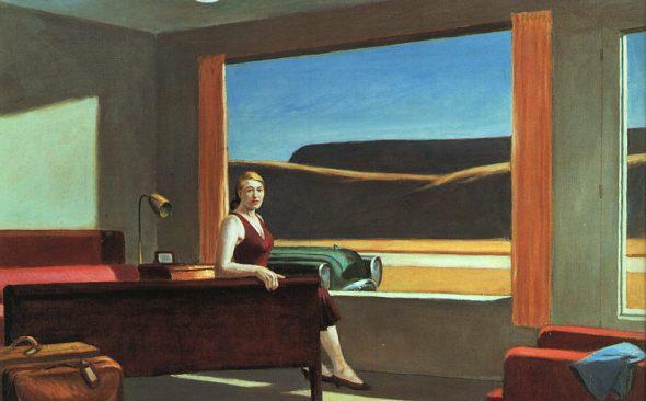 peinture: E Hopper: Western Hotel