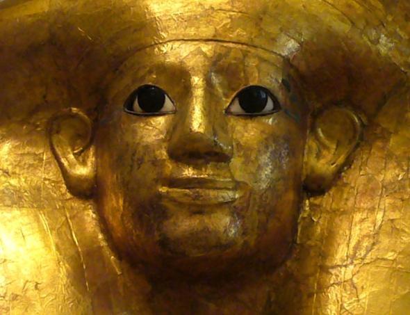 art egyptien:  masque funéraire