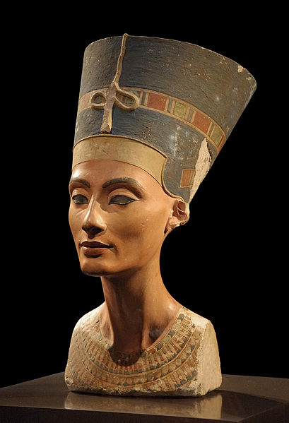 Art egyptien: buste de Nefertiti