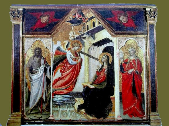 peinture: Annonciation -  renaissance italienne,  artiste non identifié