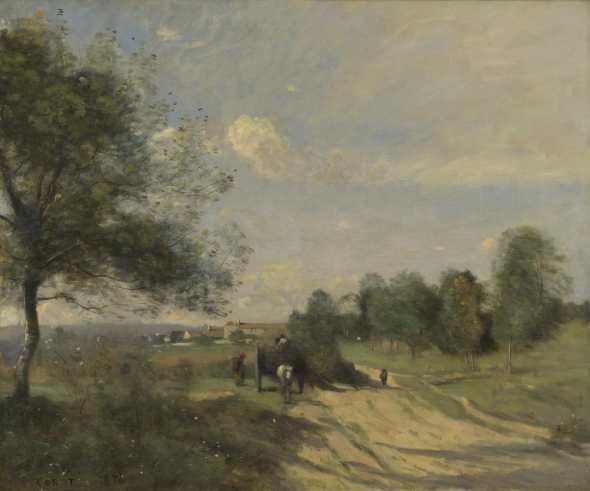 peinture    Corot   eWagon ('Souvenir of Saintry')