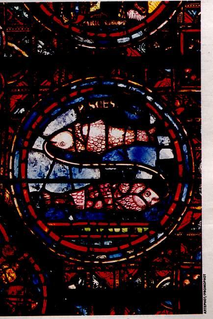 Vitrail médiéval  Cathédrale de Chartres