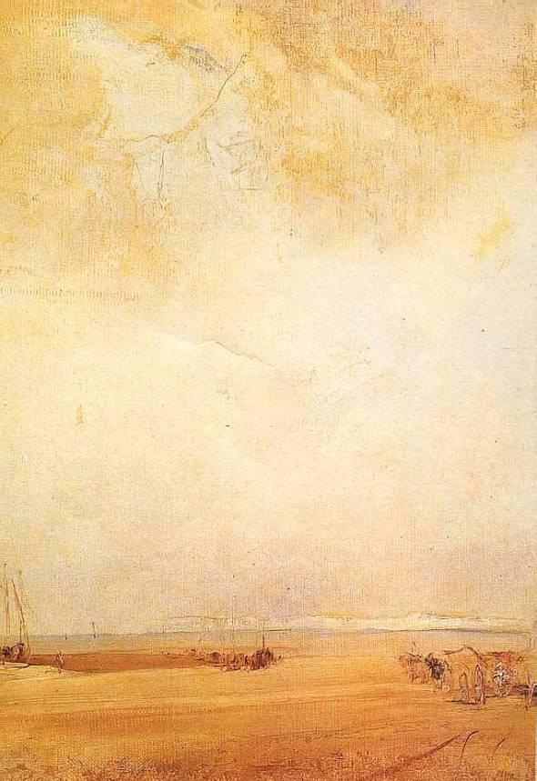 peinture:  Richard Bonnington-  Côte normande