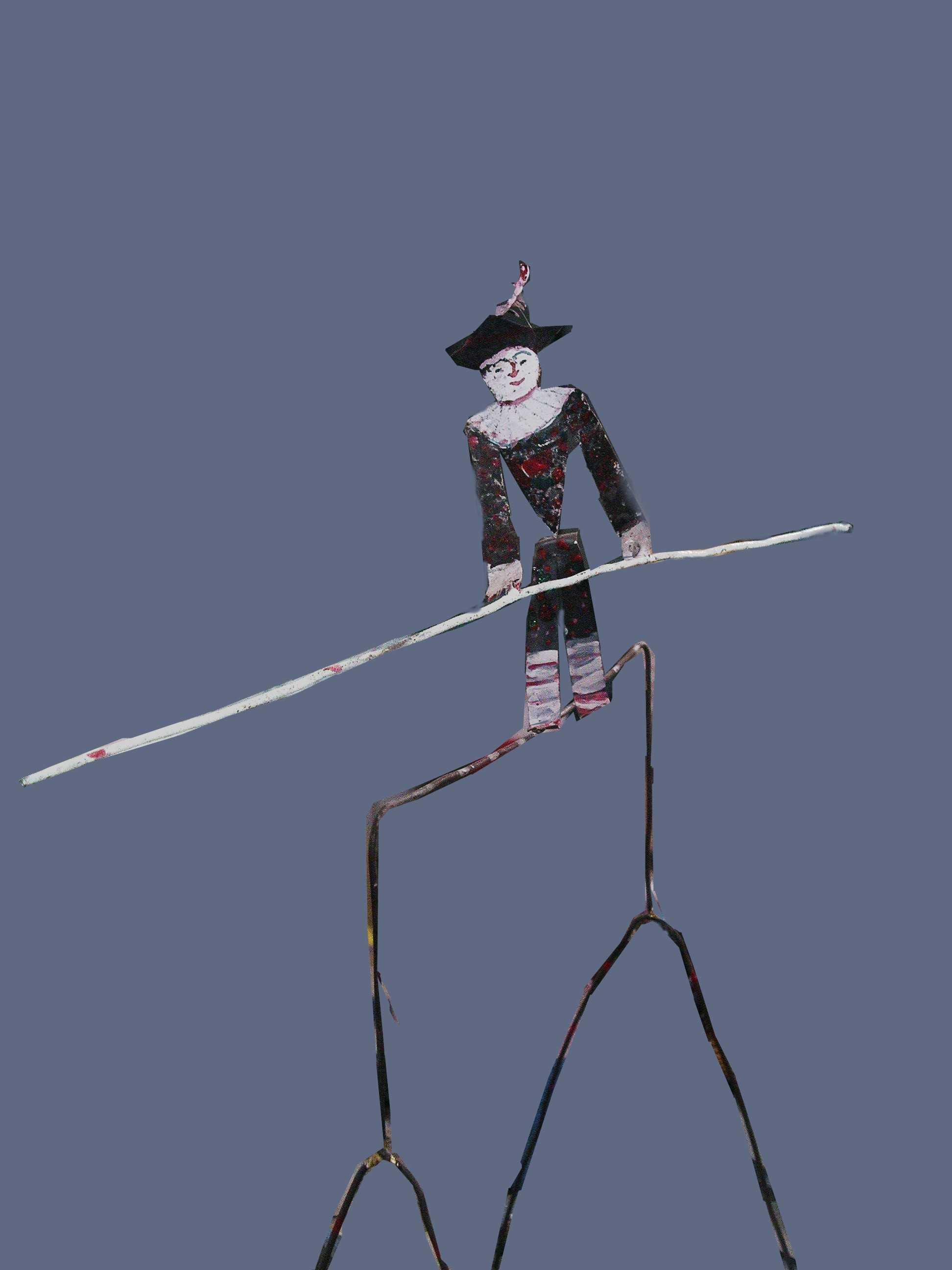 Sculpture-jouer: Roland Roure  -  équilibriste