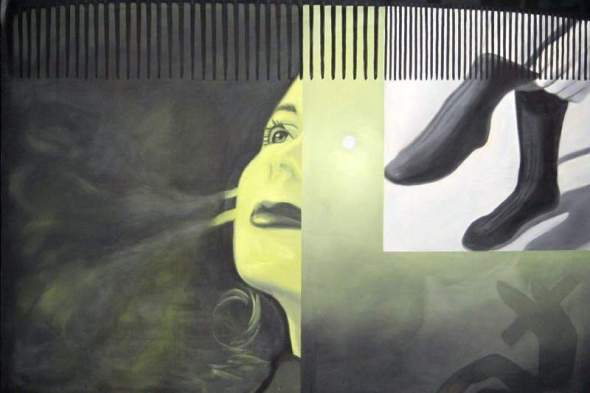 peinture: James Rosenquist  -The Light That Won't Fail