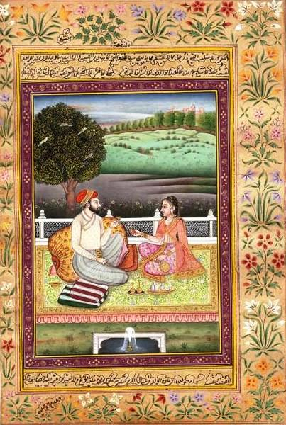 peinture: manuscrit ( art de l'Inde - Urdu), sur papier