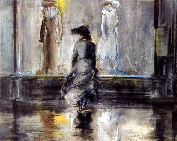 peinture: Everett Shinn- 1903