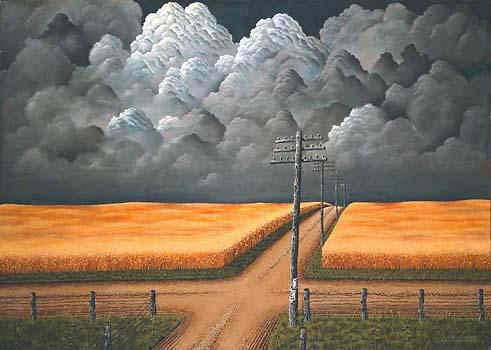 peinture: John Rogers Cox,  1942    gris et or