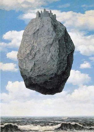 peinture: René Magritte: le château des Pyrénnées