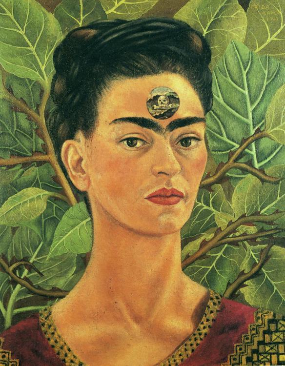 peinture: Frida Kahlo   auto-portrait et Bonito