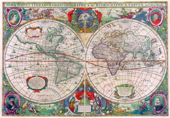 carte ancienne- mappemonde