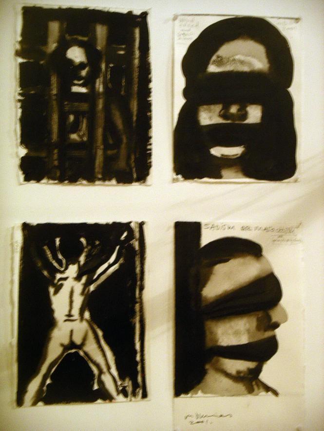encres: Marlene Dumas   biennal  d'art contemporain de Lyon