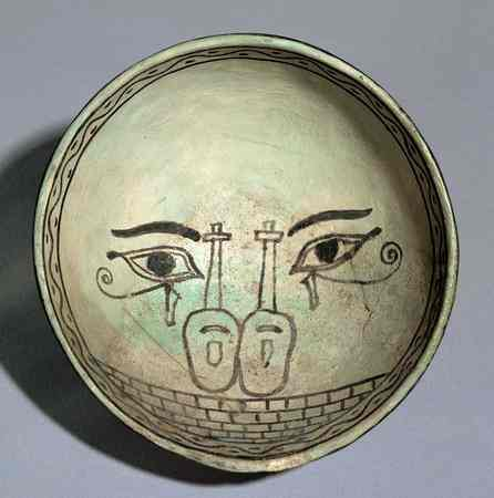 Art antique: assiette  egyptienne