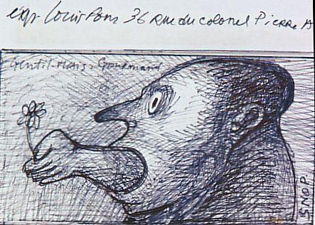 dessin: Louis Pons;  exposition musée Fenaille  Rodez