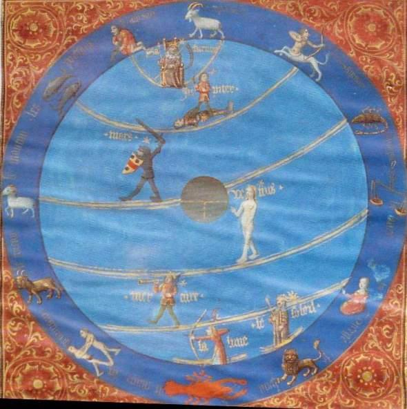 carte   traité  d'astrologie  bartolome  madrid