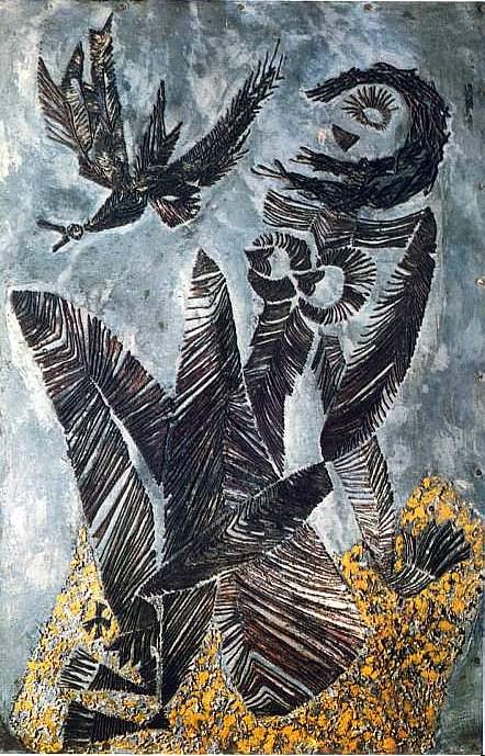 peinture: Nesch Rolf  oiseau tombant   1939