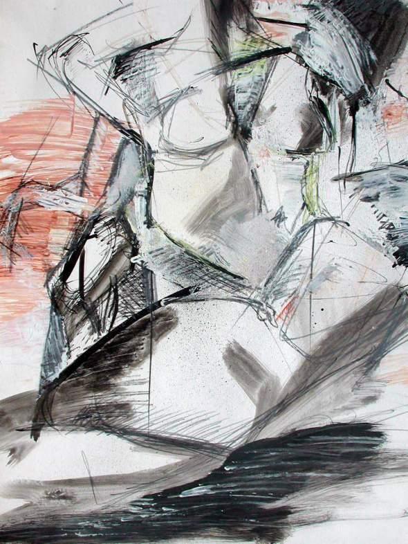 peinture perso  étude  de nu  1977