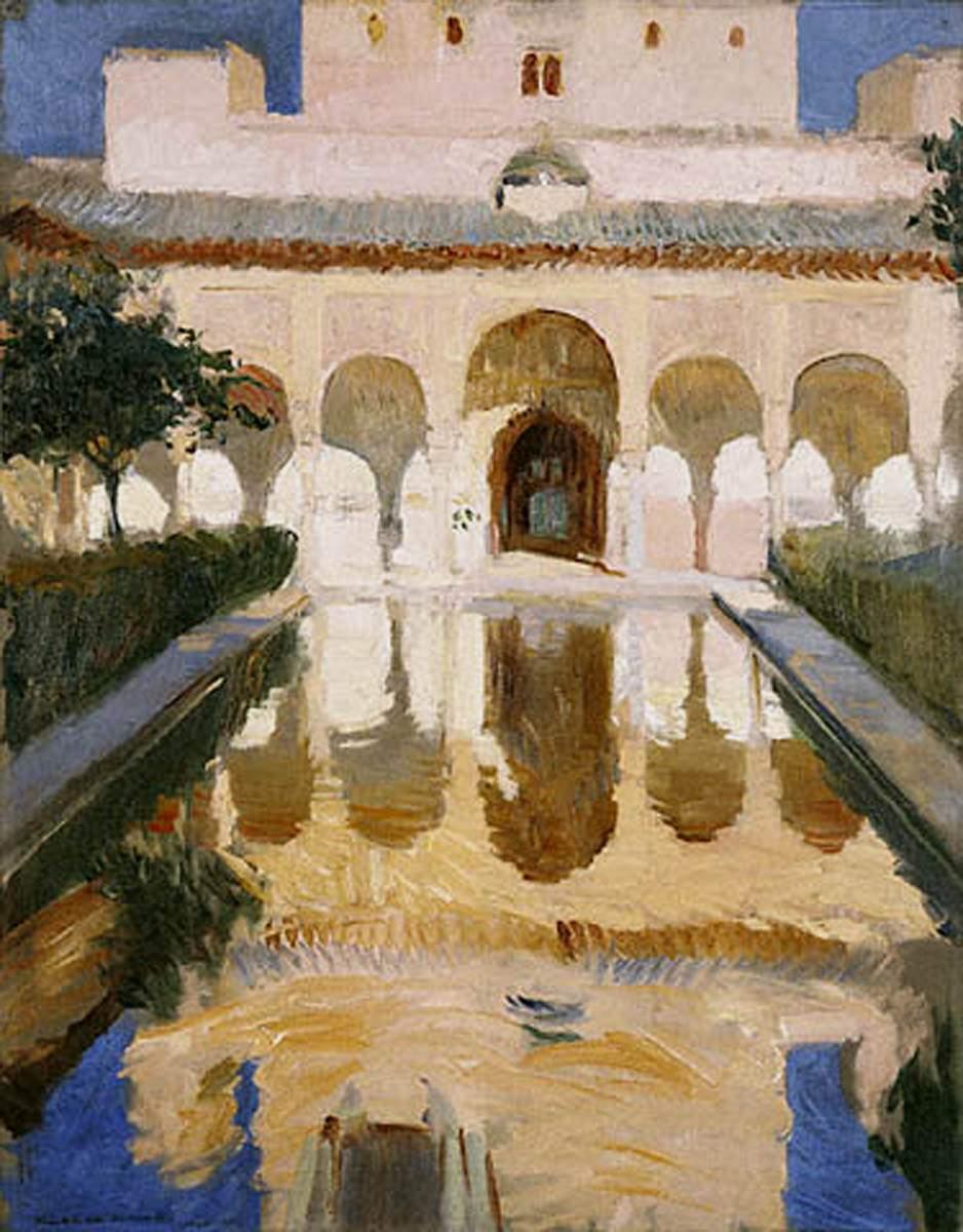 peinture:  Sorolla: bassadors, Alhambra, Granada 1909