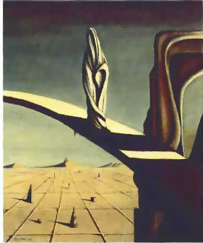 peinture:  Kay Sage - Near the Five Corners  1943
