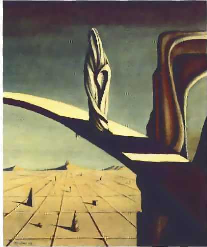 peinture:  Kay Sage - Near the Five Corners  1943