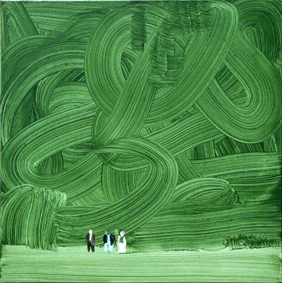 photo- peinture:  Wilhelm  Sasnal,  _1972- _ - 2002 Shoah - Forest _P