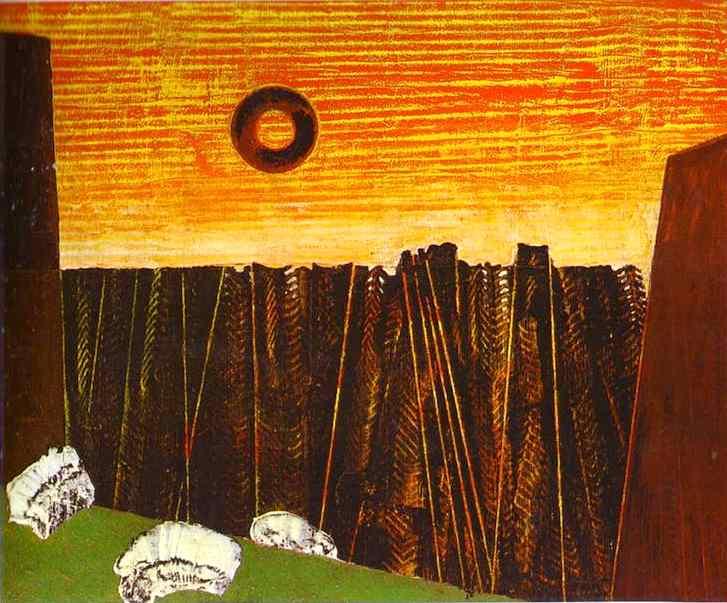 peinture: Max Ernst; forêt d'arêtes de poissons