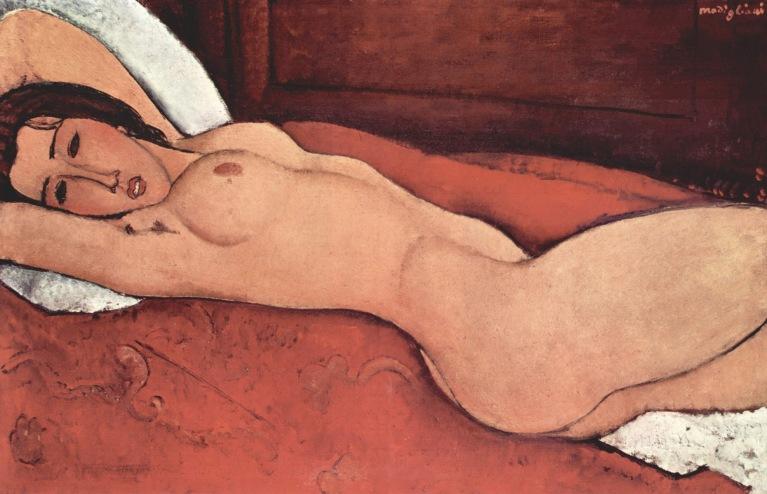 peinture: Amedeo Modigliani: nu couché