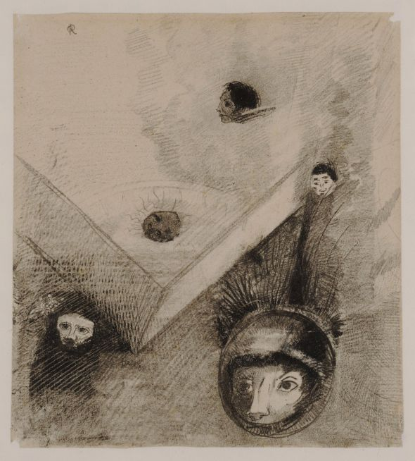 gravure: Odilon Redon - On the Backdrop of Our Nights