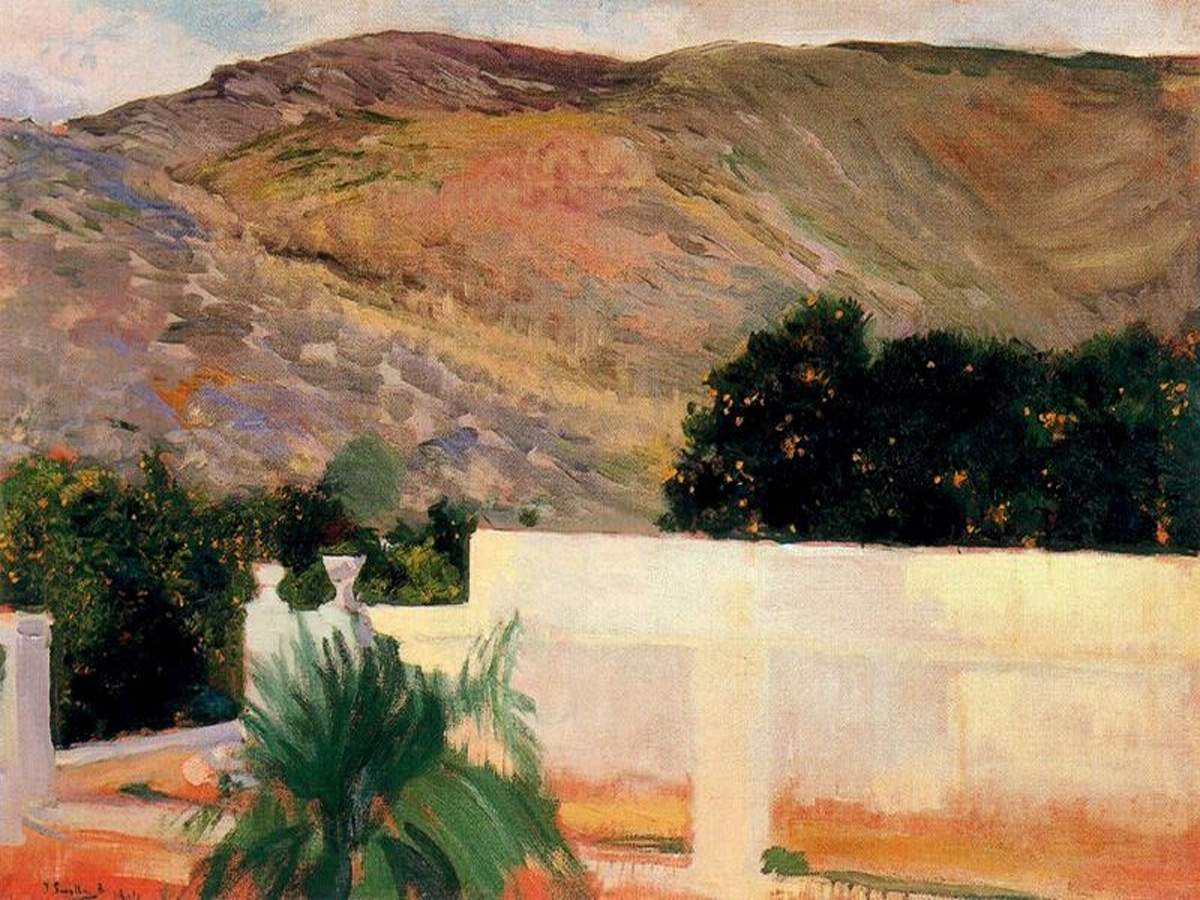 peinture: J Sorolla - orangers d'Alcira