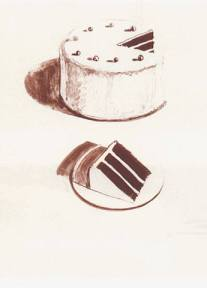 Wayne Thiebaud -  Chocolate cake