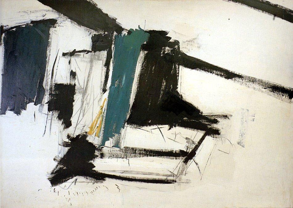 peinture: Franz Kline: De Medici 1956
